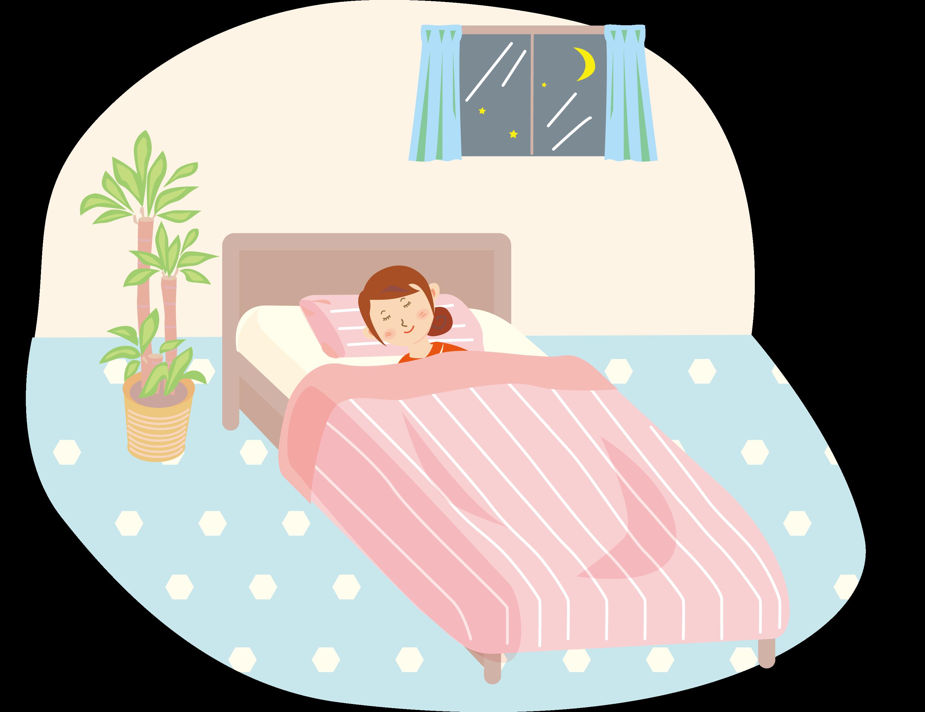 睡眠時、胸の脂肪は重力で下に移動